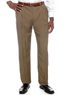 Haggar Big & Tall eCLo™ Stria Classic-Fit Pleated Dress Pants