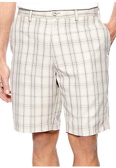 Haggar® Cool 18 Tonal Plaid Flat Front Shorts