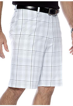Haggar Cool 18 Microfiber Check Shorts