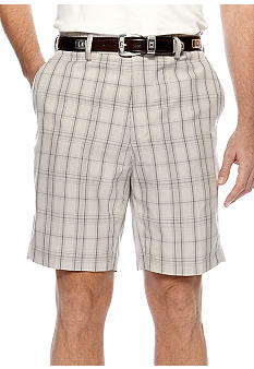 Haggar Cool 18 Windowpane Plaid Shorts