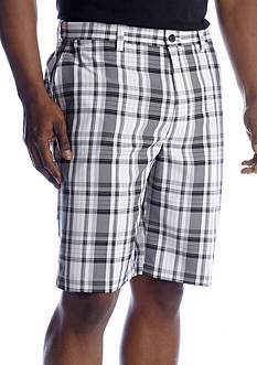 Haggar® Cool 18® Microfiber Plaid Shorts