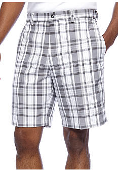 Haggar Microfiber Plaid Shorts
