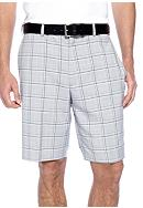 Haggar® Cool 18 Microfiber Plaid Plain Front Shorts