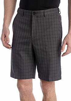 Haggar 9.5-in. Classic-Fit Flat-Front Non-Iron Windowpane Cool 18® Shorts
