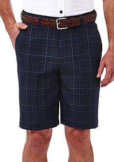 Haggar Cool 18 Plaid Performance Shorts