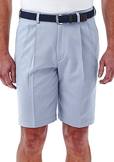 Haggar 9.5 inch Classic-Fit Pleated Non-Iron Cool 18® Shorts
