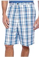 Haggar® Big & Tall Cool 18 Plaid Shorts