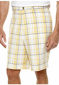 Haggar Big & Tall Cool 18 Plaid Shorts
