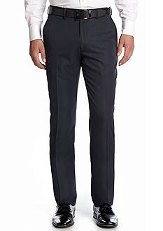 Haggar Tailored Fit Wrinkle Free Stria Stripe Flat Front Performance Suit Separate Pants