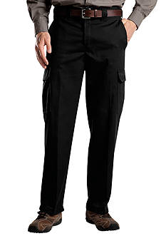 Dickies Classic Fit Flat Front Wrinkle Resistant Pants