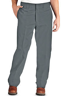 Dickies® Classic-Fit Poplin Work Flat-Front Wrinkle-Resistant Pants