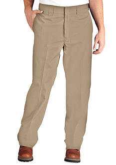 Dickies Classic-Fit Work Flat-Front Wrinkle-Resistant Pants