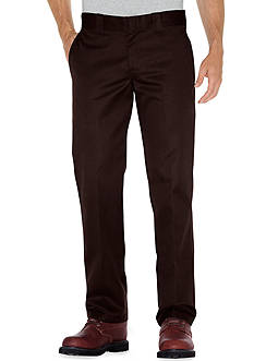 Dickies Slim-Fit Work Flat-Front Wrinkle-Resistant Pants