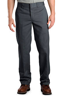 Dickies Slim Fit Work Flat Front Pants