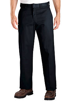 Dickies Relaxed-Fit Work Flat-Front Wrinkle-Resistant Pants