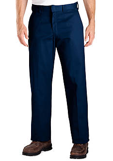 Dickies® Classic Fit Work Flat Front Wrinkle Resistant Pants