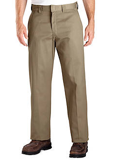 Dickies® Classic Fit Work Flat Front Wrinkle-Free Pants