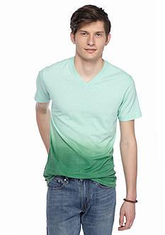 Red Camel Short Sleeve Dip Dye V-Neck T-Shirt