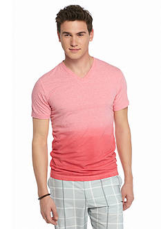 Red Camel Short Sleeve Dip Dye V-Neck T-Shirt