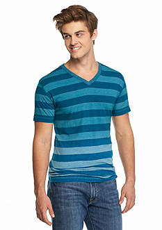 Red Camel Short Sleeve Dip Dye Stripe T-Shirt