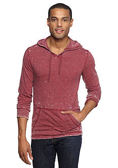 Red Camel Long Sleeve Burnout Hooded Tee
