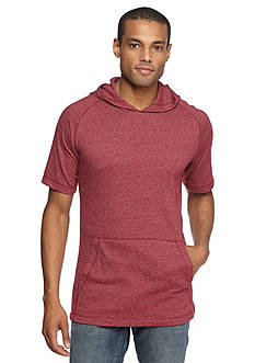 Red Camel Short Sleeve Waffle Hoodie