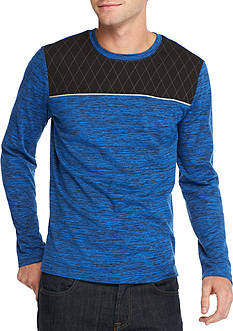 Red Camel Long Sleeve Quilted Tech Tee