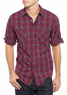 Red Camel Long Sleeve Poplin Button Down Shirt