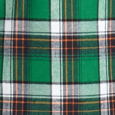 St Patricks Day Outfits For Men: Green White Red Camel Long Sleeve Flannel Shirt