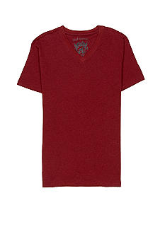 Red Camel V-Neck Ringer Tee