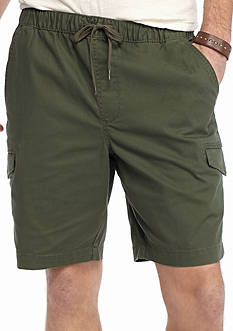 Red Camel Pull On Cargo Shorts