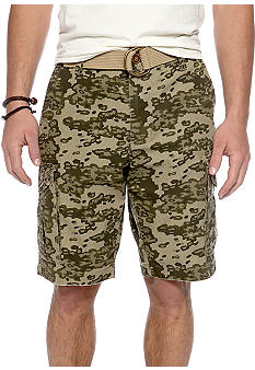 Red Camel Camo Check Cargo Short