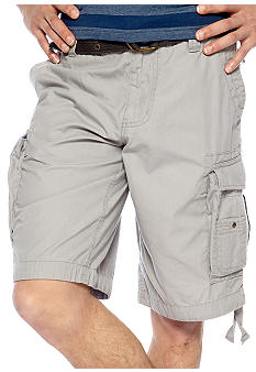 Red Camel Solid Ripstop Cargo Shorts
