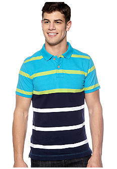 Red Camel Engineered Striped Polo