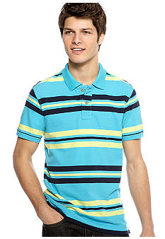 Red Camel Stripe Jersey Polo