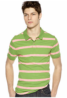 Red Camel Stripe Polo