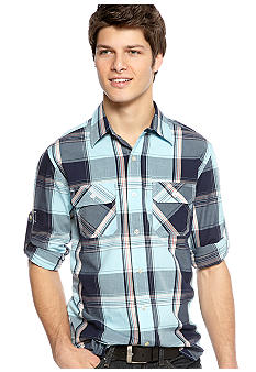 Red Camel Bold Plaid Woven Shirt