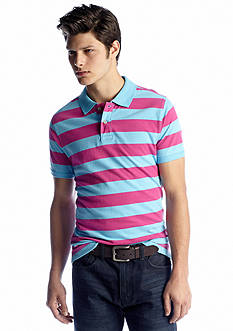 Red Camel® Slim Rugby Stripe Polo