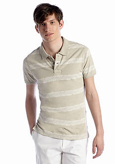 Red Camel® Printed Stripe Polo