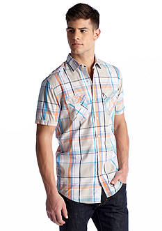 Red Camel® Short Sleeve 2 Pocket Plaid Oxford Shirt