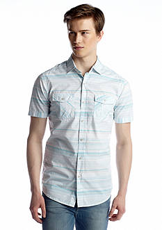 Red Camel® Short Sleeve Horizontal Stripe Shirt