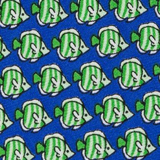 Interview Tie: Green Tommy Hilfiger Fish Print Tie