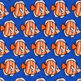 Young Men: Tommy Hilfiger Accessories: Orange Tommy Hilfiger Fish Print Tie