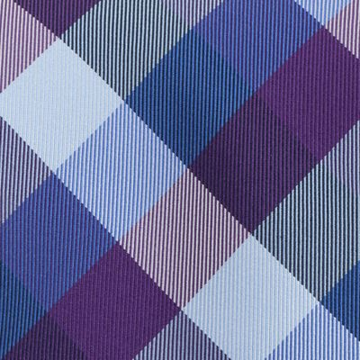 Young Mens Neckties: Purple Tommy Hilfiger Buffalo Tartan Tie