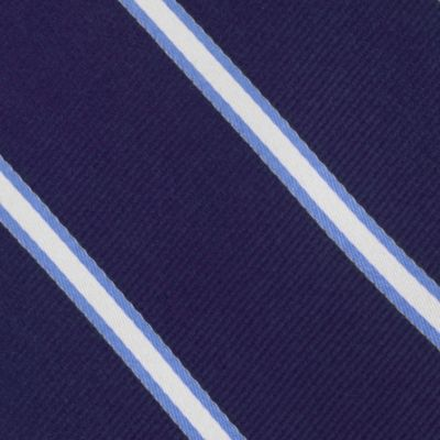 Young Mens Neckties: Navy Tommy Hilfiger Silk Striped Self-Tie