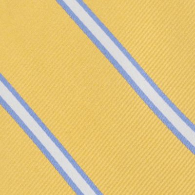 Young Mens Neckties: Yellow Tommy Hilfiger Silk Striped Self-Tie