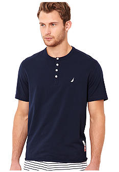 Nautica Short Sleeve Henley Sleep Tee