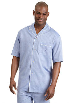 Nautica Captain's Herringbone Camp Shirt