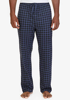 Nautica Lightweight Check Print Lounge Pants