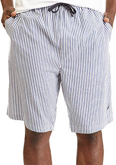 Nautica Striped Broadcloth Sleep Shorts